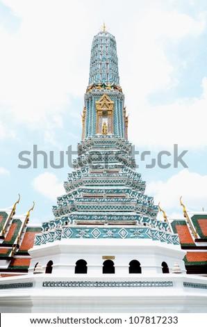 BANGKOK, THAILAND - JULY 11: Pagoda on 11 July 2012 at at Wat Phra Kaew, Grand Palace Bangkok,Thailand