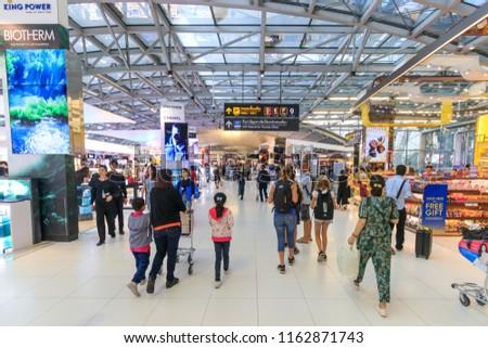 Bangkok, Thailand - July 26, 2018: Suvarnabhumi Airport #1162871743