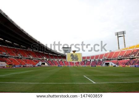 BANGKOK,THAILAND-JULY 17:View of Rajamangala Stadium during a Chelsea FC training session at Rajamangala Stadium on July 17, 2013 in Bangkok, Thailand.