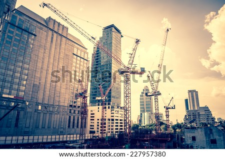 Bangkok, Thailand - June 3,2014 - Construction of the new shopping mall in the city on June 3,2014