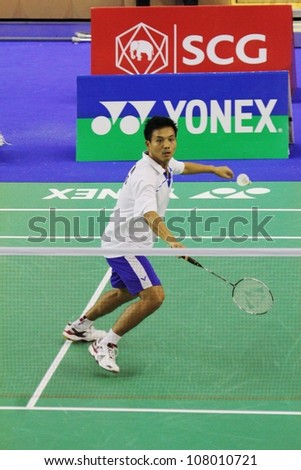 BANGKOK, THAILAND- JUNE 5: S.Matayanumati in action during SCG Thailand Open Grand Prix Gold 2012 on June 5, 2012 at CU Sport Complex in Bangkok, Thailand