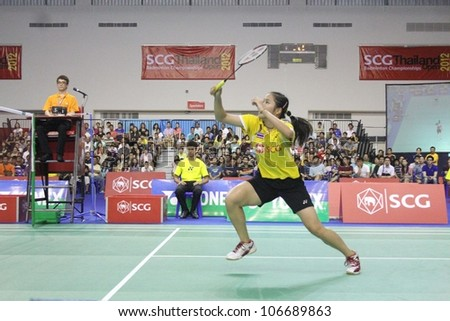 BANGKOK, THAILAND- JUNE 6: Unidentified Athlete in SCG Thailand Open Grand Prix Gold 2012 on June 6, 2012 at CU Sport Complex in Bangkok, Thailand
