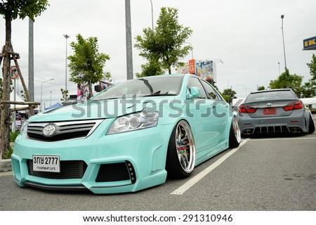 Bangkok, Thailand - June 27, 2015 : VIP car Thailand car show in the VIP style mag. meeting no.1 at the MEGAbangna, Bangkok