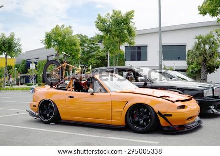 Bangkok, Thailand - June 27, 2015 : VIP car Thailand car show in the VIP style mag. meeting no.1 at the Bangna, Bangkok. This a open event no need press credentials required.