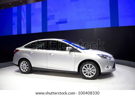 BANGKOK, THAILAND - MARCH 31: Ford Focus car on display at Ford booth in The 33rd Bangkok International Motor Show 2012 on March 31, 2012 in Bangkok, Thailand.