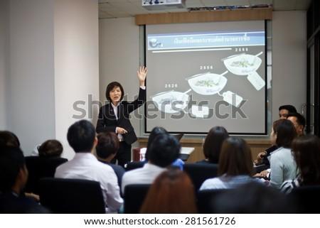 BANGKOK THAILAND-MAY 20: Bangkok seminar. Thai people enjoy seminar financial class on May 20,2015 in Bangkok Hotel,Thailand.