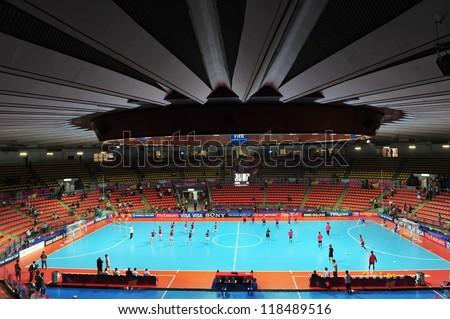 BANGKOK,THAILAND-NOV 7:A general view prior of Indoor Stadium Huamark before the FIFA Futsal World Cup match between Japan and Libya at Indoor Stadium Huamark on Nov 7,2012 in Thailand.