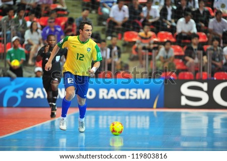 BANGKOK, THAILAND - NOV 14: Falcao player of Brazil in FIFA Futsal World Cup between Argentina (B) and Brazil (Y) at Indoor Stadium Huamark on November 14, 2012 in Bangkok, Thailand.