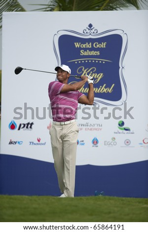 BANGKOK THAILAND - NOVEMBER 8 : Tiger Wood action at Amata Spring Bangkok Thailand on November 8,2010