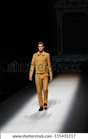 "BANGKOK, THAILAND - OCT 12 : Model walks the runway at "" Painkiller"" collection presentation during ELLE Fashion Week 2012 on October 12, 2012 in Bangkok Thailand."