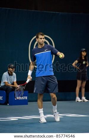 BANGKOK THAILAND- SEPTEMBER 29 : A.Murray in PTT Thailand Open 2011 ( ATP ) on September 29, 2011 at Impact Arena Muang Thong Thani Bangkok Thailand