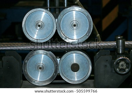 BANGKOK-THAILAND-SEPTEMBER 2 : Measurement Tool of length of electrical cable at factory test on September 2,2015 Bangkok, Thailand #505599766