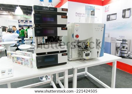 Bangkok, Thailand - September 17 to 19, 2014 : Thailand Lab 2014 exhibition at Bitec - Shutterstock ID 221424505