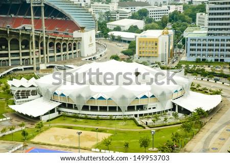 BANGKOKO, THAILAND-JULY 30, 2013:Indoor stadium Hua-Mak is stadium to the compeition Volleyball World Grand Prix 2013 between August 16-18, 2013 at Indoor Hua-Mak on July 20, 2013 in Bangkok, Thailand