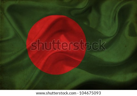 Bangladesh waving flag