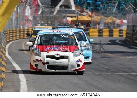 BANGSEAN, THAILAND - NOV. 14 : The racing car competitor in action during the Bangsean Thailand Speed Festival Round 3 race. November 14, 2010 in Bangsean Thailand. - stock photo