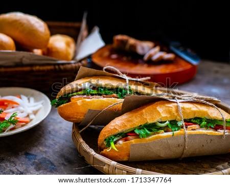 Banh mi - Vietnamese sandwich - Vietnamese food Zdjęcia stock ©