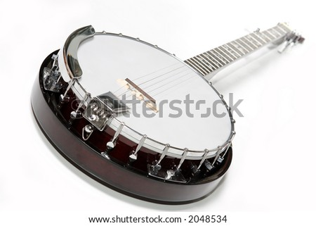 banjo isolated on a white background. Musical instrument.