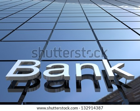 Bank building, 3D images