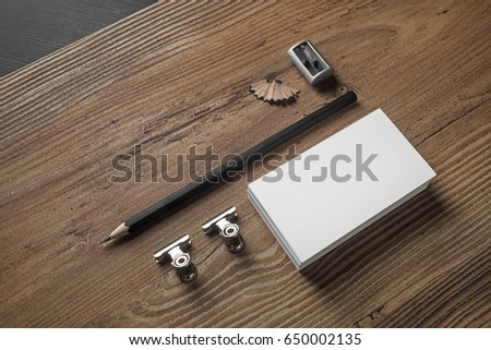 Bank business cards pencil and sharpener on wood table background bank business cards pencil and sharpener on wood table background id template photo reheart Gallery
