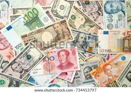 bank notes from all over the world
