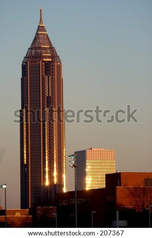 Bank of America at sunset in Atlanta