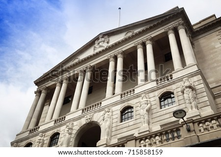 Bank of England - architecture landmark of London, UK.