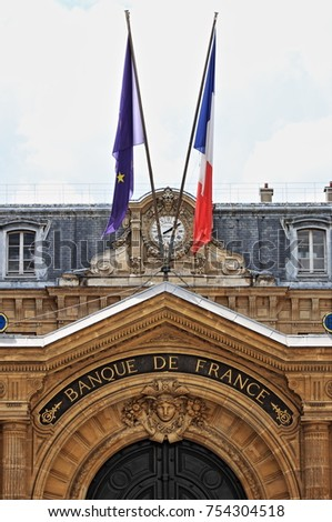 Bank of France at Les Invalides in Paris, France Photo stock ©