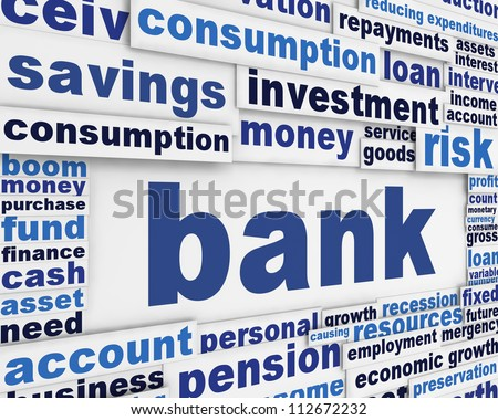 Bank poster design. Financial message background
