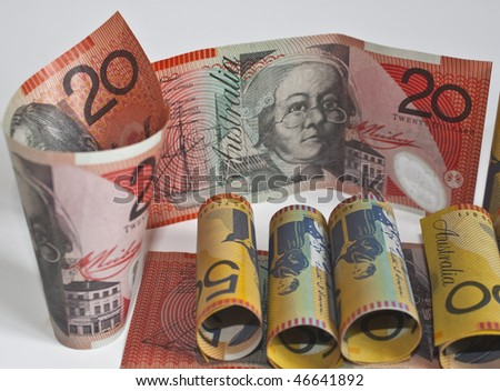 bank roll of australian dollars