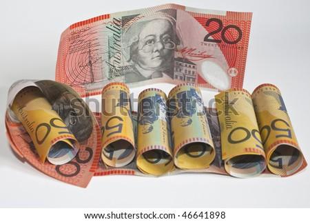 bank roll of australian dollars