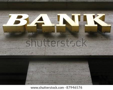 bank sign in Berlin