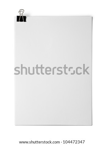 Bank white paper isolated on white background