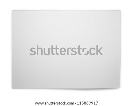 Bank white paper isolated with Clipping Path
