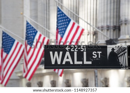 banking center on the wall street #1148927357