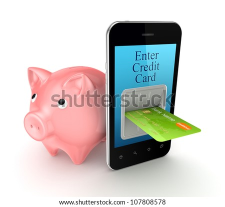 Banking concept.Isolated on white background.3d rendered.