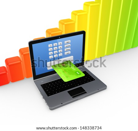Banking concept.Isolated on white.3d rendered.