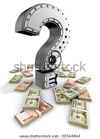 Banking safe from  question mark