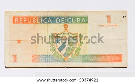 Banknote of one cuban convertible pesos