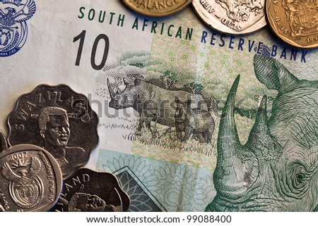 Banknotes and coins - Rands of South Africa