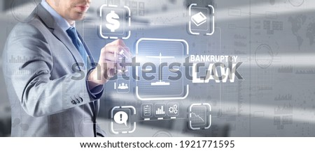 Bankruptcy law concept. Insolvency law. Company has problems ストックフォト ©