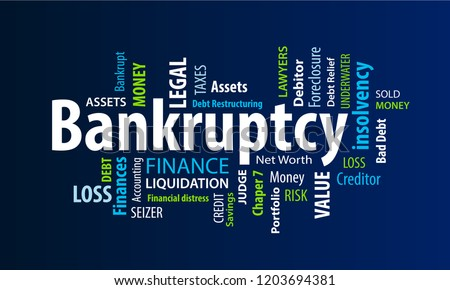 Bankruptcy Word Cloud Stock photo ©