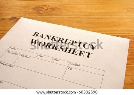 Worksheets Bankruptcy Worksheet bankruptcy worksheet form or document showing business concept concept
