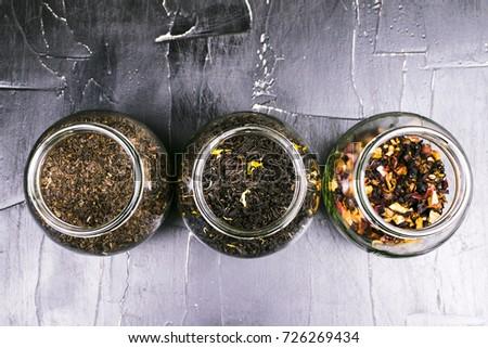 Banks with different varieties of tea #726269434