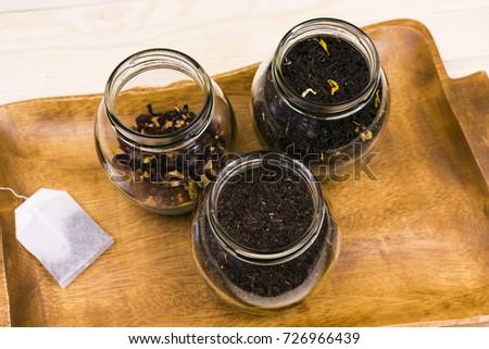 Banks with different varieties of tea #726966439