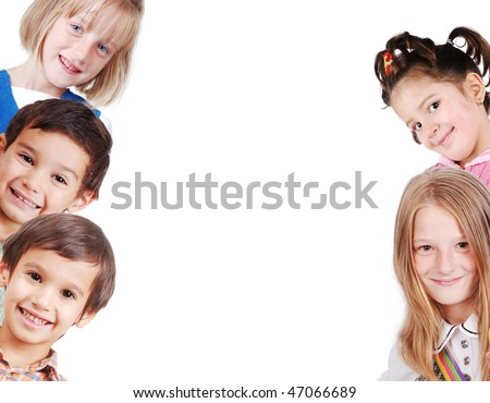 Banner for your text or picture with 6 children