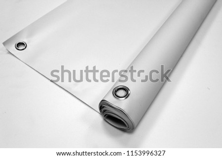 Banner PVC Isolate Concept Mock Up #1153996327