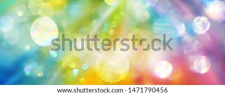 Banner rainbow colored light - background holistic therapy Сток-фото ©