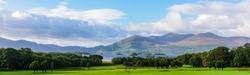 banner view of Lake Killarney and the Killarney National Park
