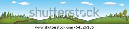 Banner With Landscape